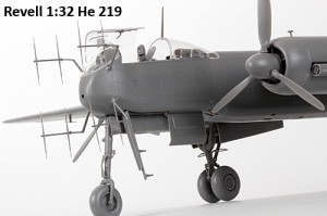 Pictures of the upcoming 1:32 Revell He 219