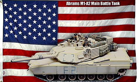Tamiya 1:35 Abrams M1-A2 Main Battle Tank
