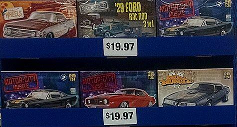 More Revell model kits at Walmart