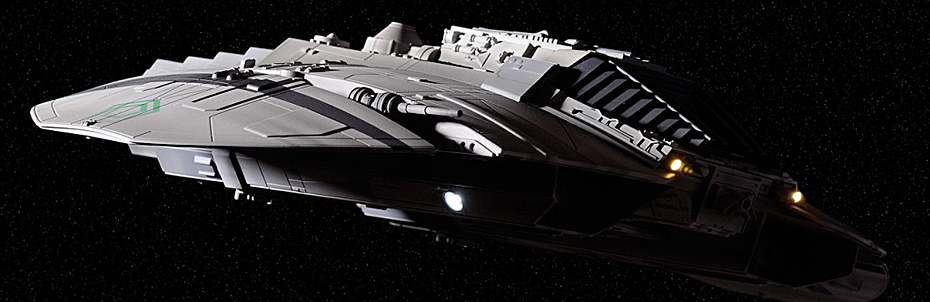 Built Moebius Cylon Raider Model