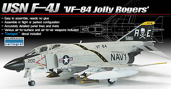 "New Academy 1/72 F-4J ""Jolly Rogers"" UPDATE 2/18/16"